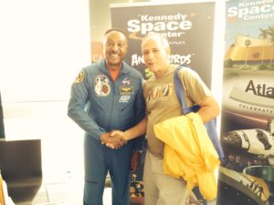 Astronaut Winston Scott at the Exploration Tower