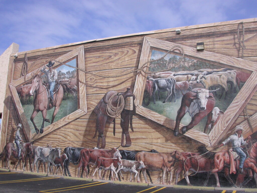 Florida Cracker Cattle Mural