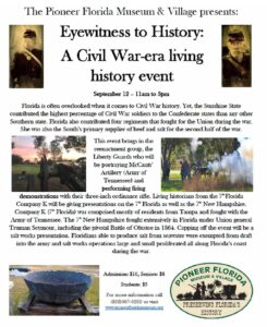 Dade City Pioneer Museum Civil War Event